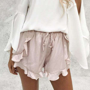 High Waist Ruffle Summer Shorts