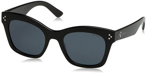 Polaroid Sunglasses Women's Pld4039s Polarized Rectangular Sunglasses, Shn Black, 51 mm