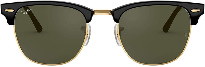 Ray-Ban CLUBMASTER - EBONY/ ARISTA Frame CRYSTAL GREEN Lenses 51mm Non-Polarized
