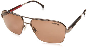 Carrera 8028/S Sunglasses CA8028S-0R80-70-5917 - Semi Matte Dark Ruthenium Frame, Brown Lenses,