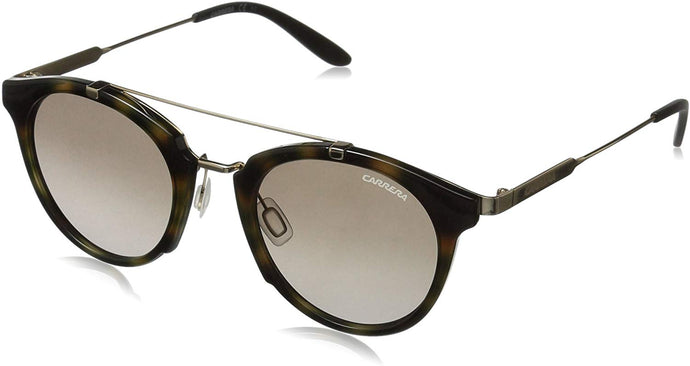 Carrera Men's Ca126s Round Sunglasses, Yellow Havana Gold/Brown Gradient, 49 mm