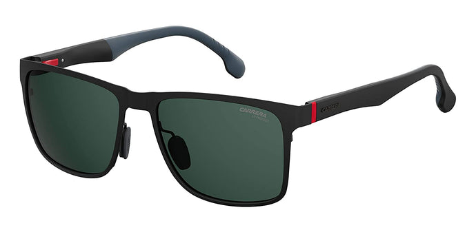 Carrera Men's 8026/s Square Sunglasses, Matte Black, 57 mm