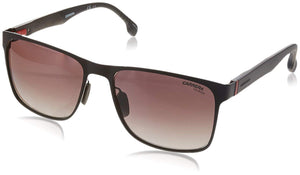 Carrera Men's 8026/s Polarized Square Sunglasses, Matte Brown, 57 mm