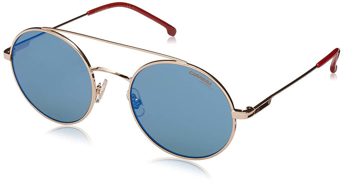 Carrera Unisex-Adult Carrera 2004t/s Round Sunglasses, Gold & Red, 19 mm