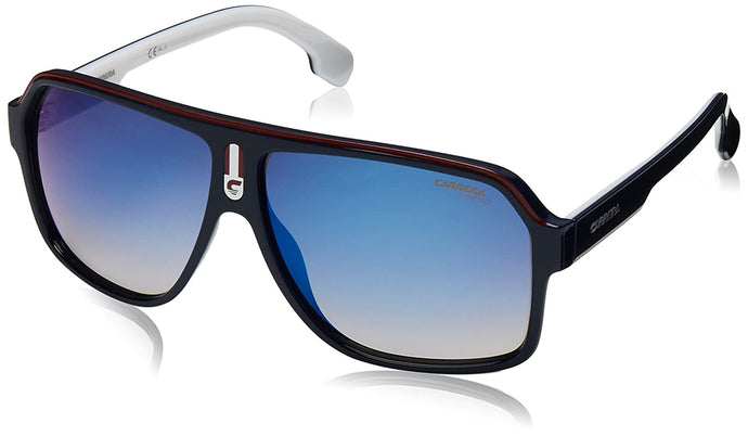 Carrera Men's 1001/s Aviator Sunglasses, BLUE RED, 62 mm