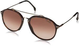Carrera 171/S 086 HA Dark Havana Plastic Aviator Sunglasses Brown Gradient Lens