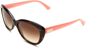 Kate Spade Women's ANGELIQUE Cat Eye Sunglasses,Tortoise Blush Frame/Brown Gradient Lens,One Size