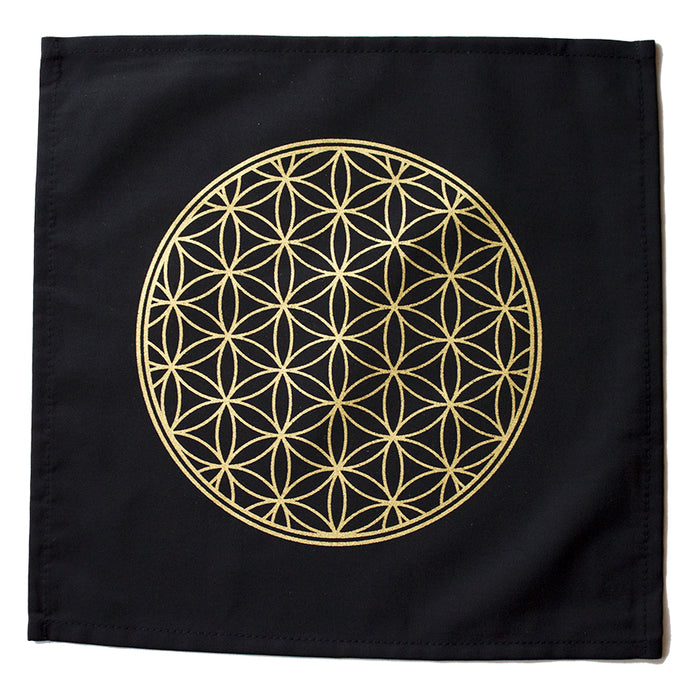 Cloth Flower of Life Grid (Black Cotton)