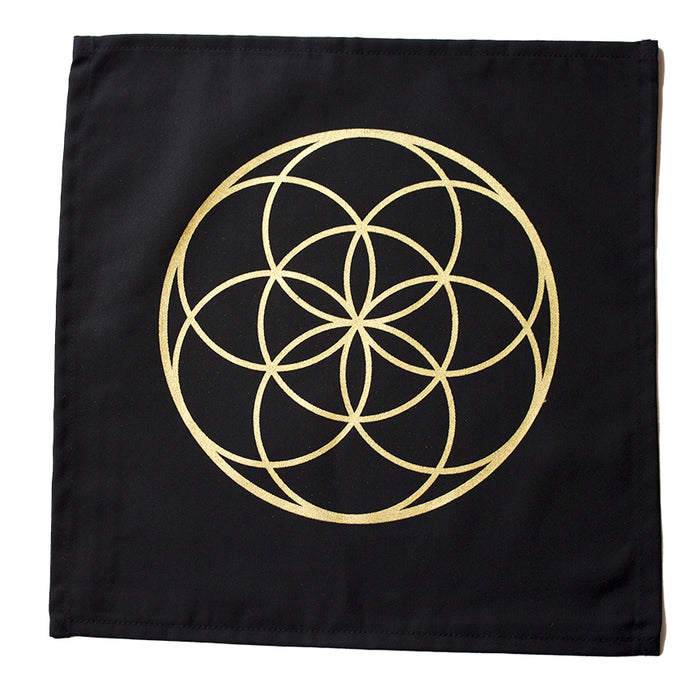 "Cloth ""Seed of Life"" Crystal Grid"