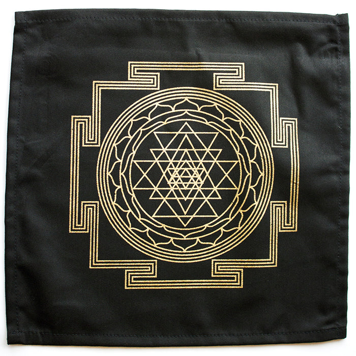 "Cloth ""Sri Yantia"" Crystal Grid"