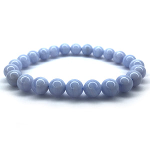 Blue Lace Agate Crystal Bracelet - Happy Soul Online