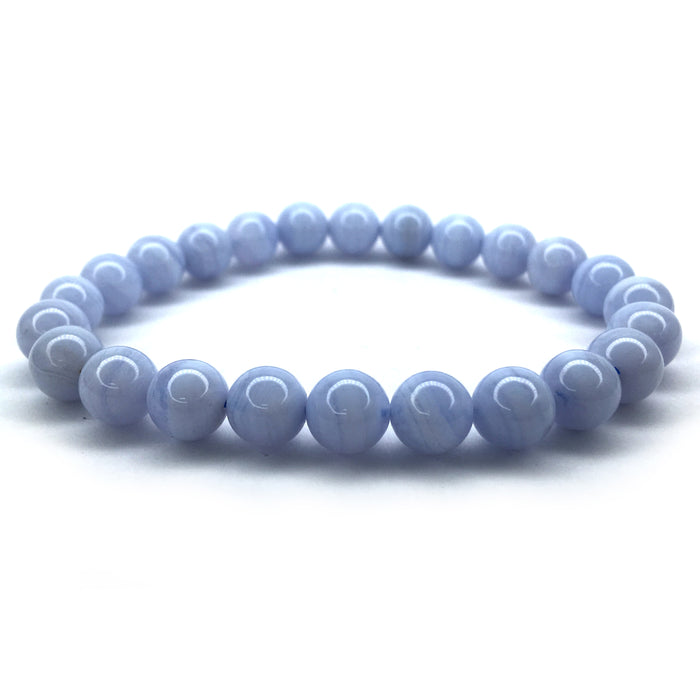 Bracelet - Blue Lace Agate 8mm