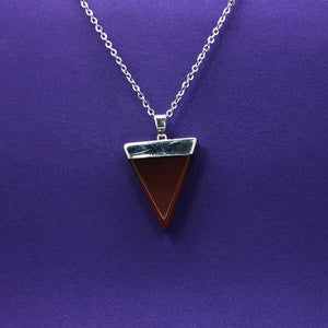 Carnelian Triangle Crystal Necklace - Happy Soul Online