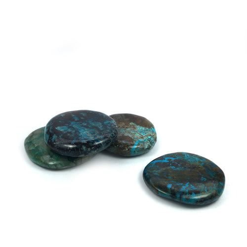 Chrysocolla Crystal Palm Stone - Happy Soul Online
