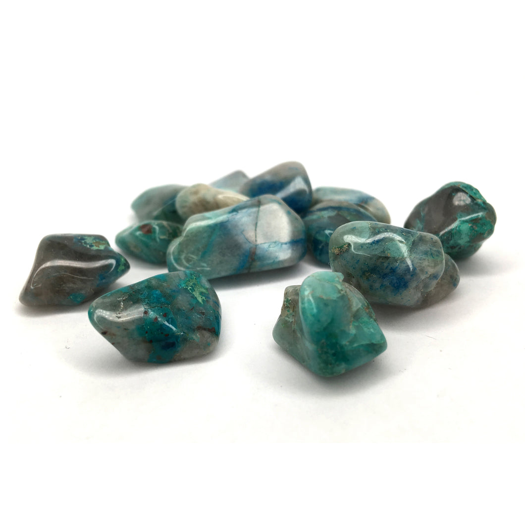 Chrysocolla Tumbled Crystal Small Happy Soul Online