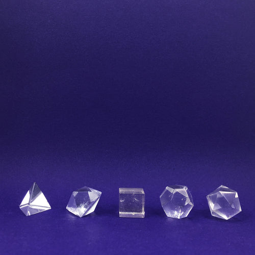 Clear Quartz Platonic Solid Crystal Sets Happy Soul Online
