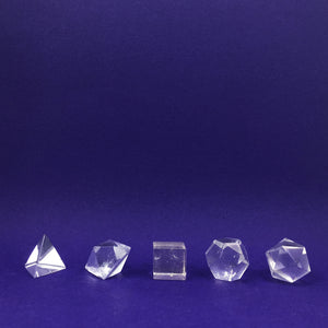 Clear Quartz Platonic Solid Crystal Sets - Happy Soul Online