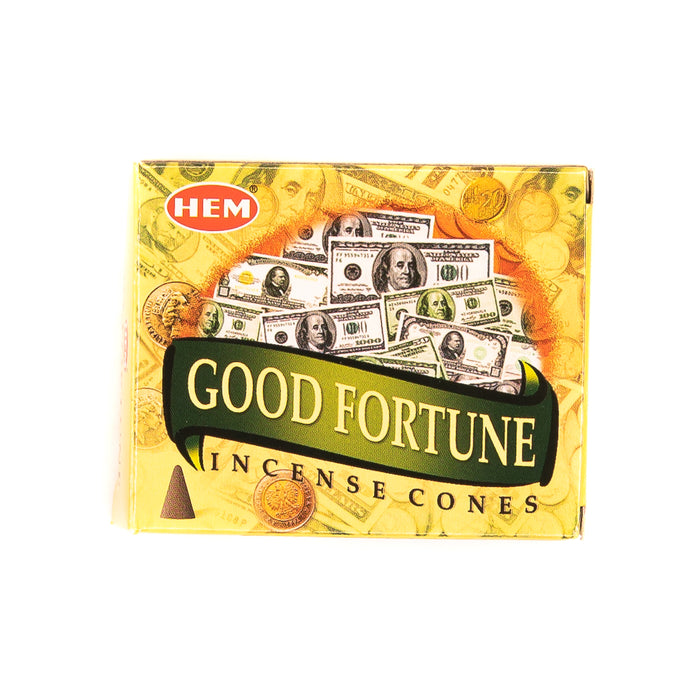 Incense Cones - HEM Good Fortune