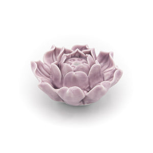 Incense Holder  - Violet Clay Lotus