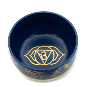 "Tibetan Singing Bowl 4.5"" - Indigo (Third Eye)"