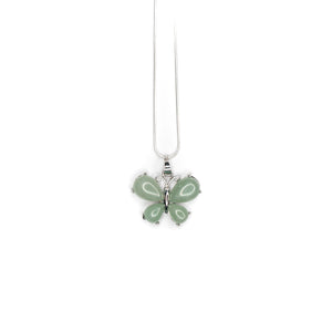 Necklace - Green Aventurine Butterfly $30