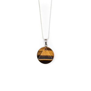 Necklace - Tiger's Eye Disk $20