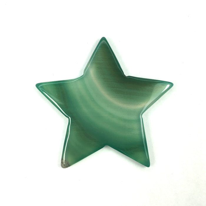 Green Agate Crystal Star