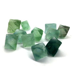 Green Fluorite Octahedrons Crystal Tiny - Happy Soul Online