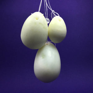 Jade Crystal Yoni Eggs (Set of 3) - Happy Soul Online