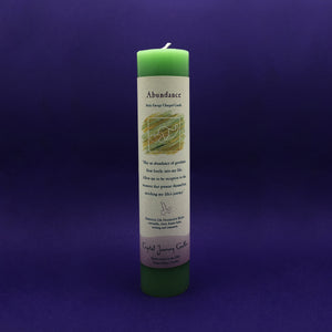 Pillar Candle Abundance Reiki Energy Charged Green Happy Soul Online