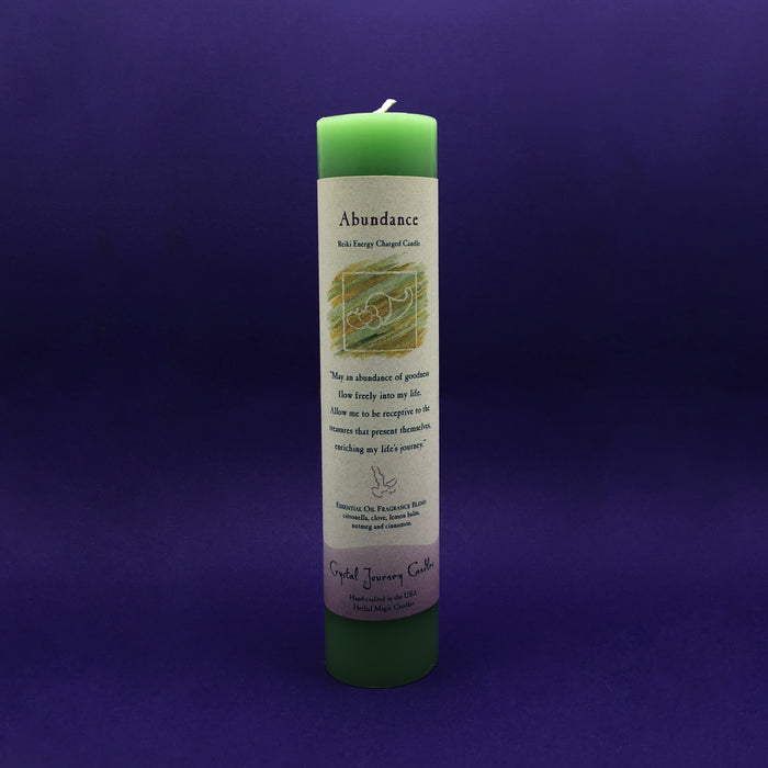 Pillar Candle - Abundance - Reiki Energy Charged (Green)