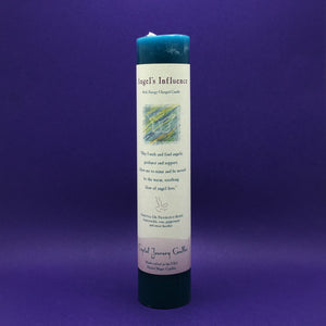 Pillar Candle - Angel's Influence - Reiki Energy Charged  (Blue) - Happy Soul Online