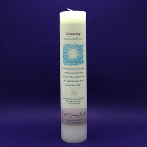 Pillar Candle - Cleansing - Reiki Energy Charged (White) - Happy Soul Online