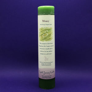 Pillar Candle - Money - Reiki Energy Charged (Green) - Happy Soul Online