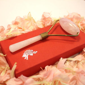 Rose Quartz Crystal Facial Massage Roller