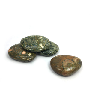 Rainforest Rhyolite Crystal Palm Stone Happy Soul Online