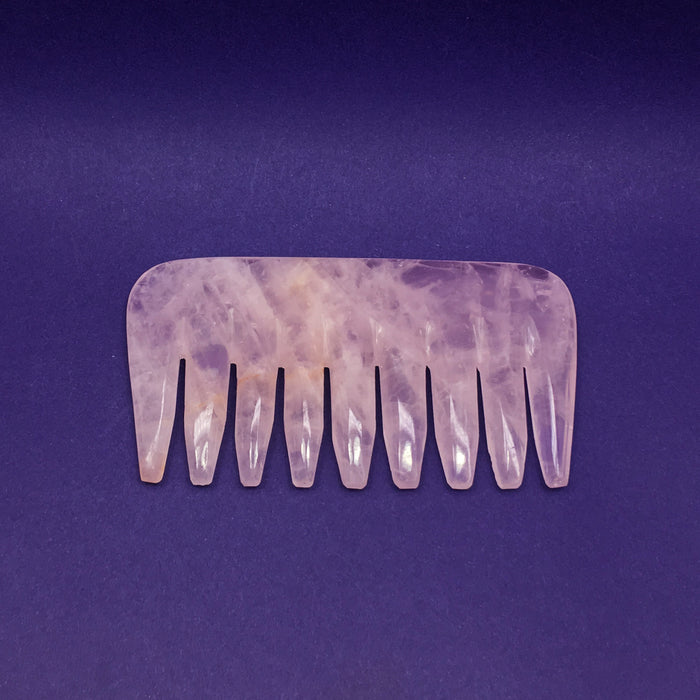 Rose Quartz Comb & Massage Tool