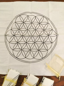 Cloth Flower of Life Grid (Large White Cotton)