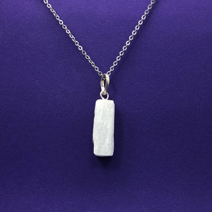 Selenite Raw Slab Necklace Happy Soul Online