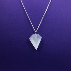 Selenite Diamond Shaped Necklace Happy Soul Online