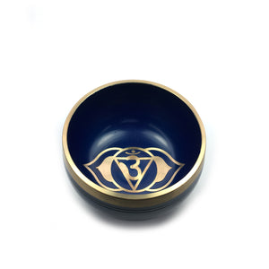 Tibetan Singing Bowl Gift Set - Indigo (Third Eye Chakra) Happy Soul Online