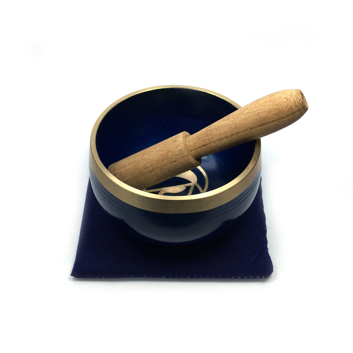Tibetan Singing Bowl Gift Set - Indigo (Third Eye Chakra)