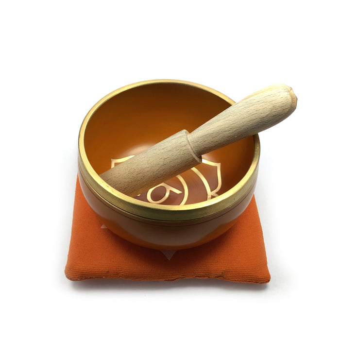Tibetan Singing Bowl Gift Set - Orange (Sacral/Navel Chakra)