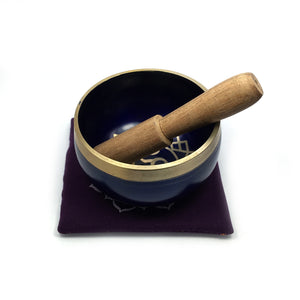 Tibetan Singing Bowl Gift Set - Purple (Crown Chakra) Happy Soul Online