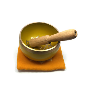Tibetan Singing Bowl Gift Set - Yellow (Solar Plexus Chakra) Happy Soul Online
