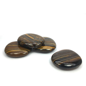 Tiger's Eye Crystal Palm Stone Happy Soul Online