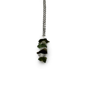 Necklace - Moldavite & Herkimer Diamond