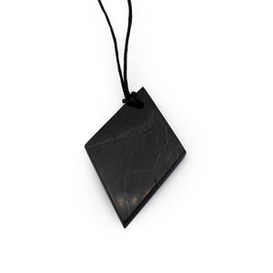 Necklace - Shungite Rhombus