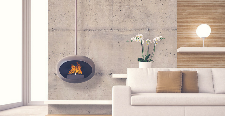 Time to get cosy. The joy of a bio-ethanol fireplace.