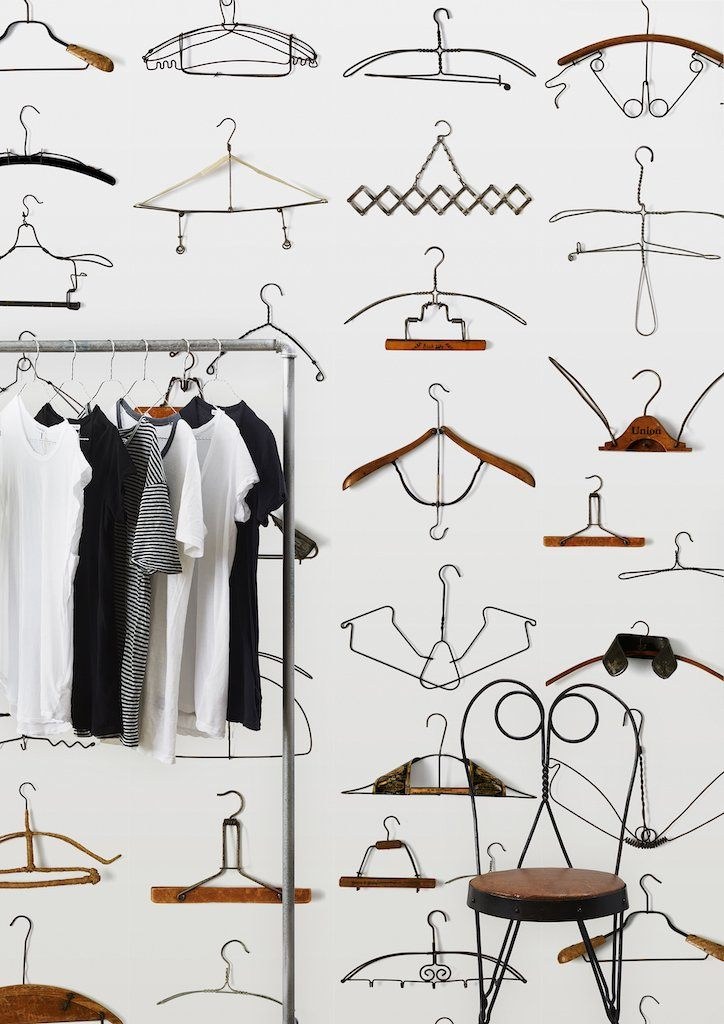 Wallpaper - Hangers by Daniel Rozensztroch